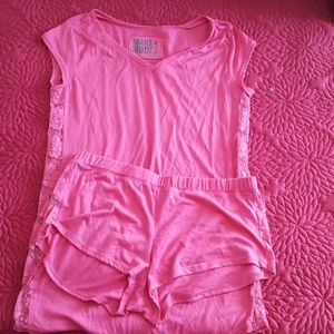 Pink make and model pj set